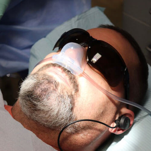 A patient using air sedation