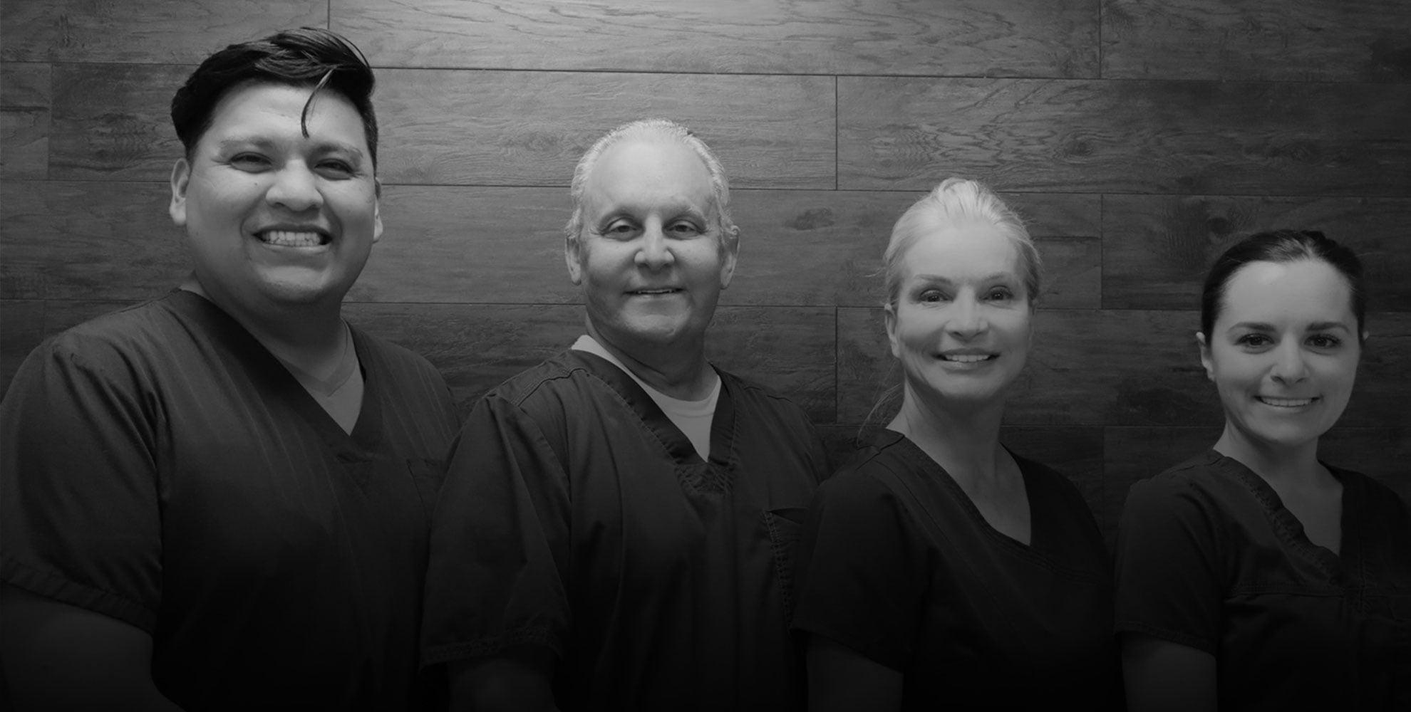 Kaban Endodontics team in black and white